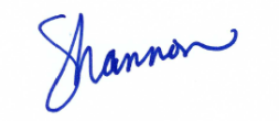 signature in blue