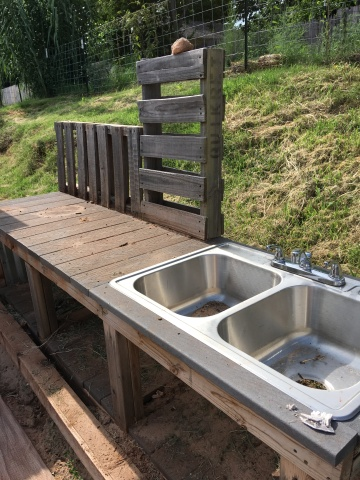 sink in potting table